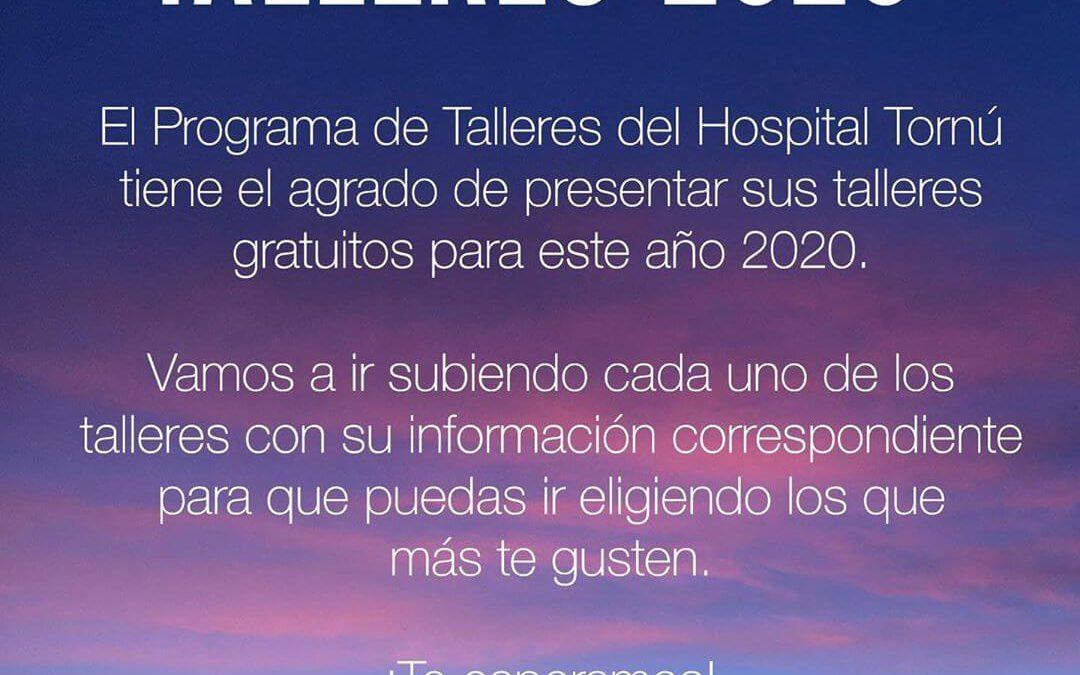 ¡NUEVOS TALLERES 2020!