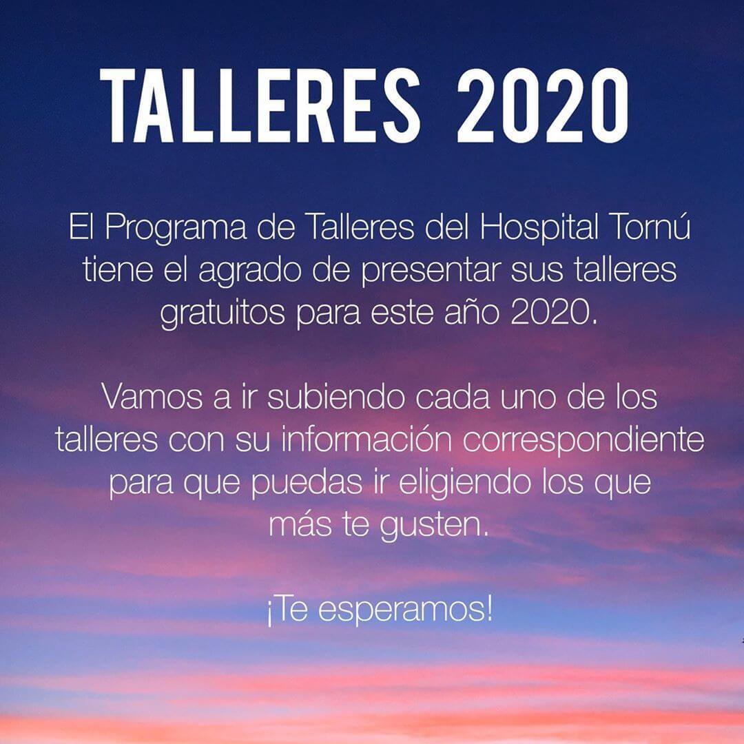 Nuevos talleres 2020