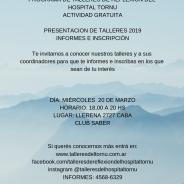 Presentación de talleres 2019 – Informes e inscripción